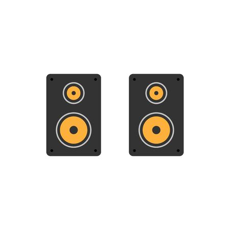 multimedia icons: Acoustic speakers icon on white background.