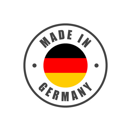 Made in Germany badge with German flag