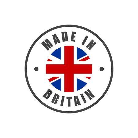 """""""Made in Großbritannien"""" Abzeichen mit UK Flagge"""