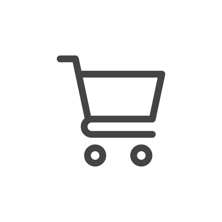 Shopping cart icon vector Vettoriali