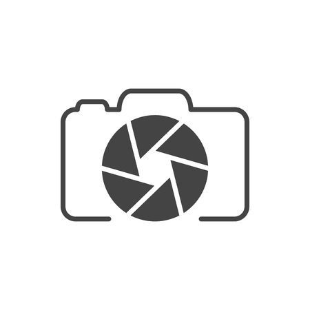 Photo camera logo, icon Illustration