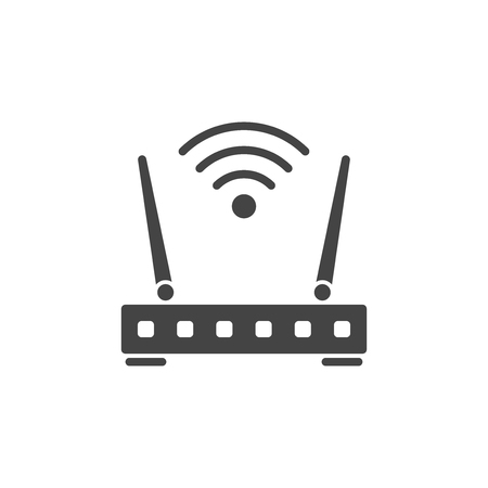 Wireless router vector icon, wi-fi sign