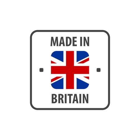 """Made in Britain"" label with UK flag Vektoros illusztráció"