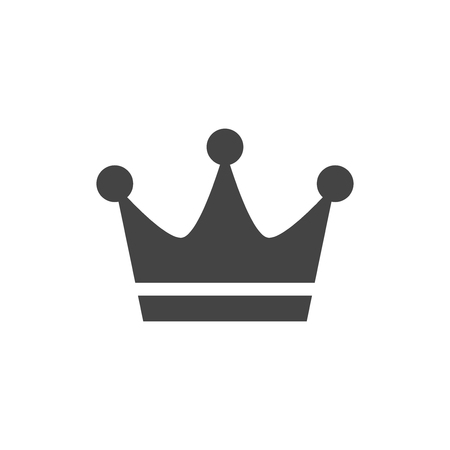 Crown flat vector icon