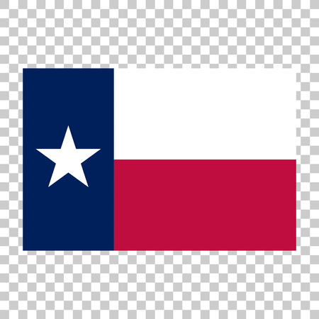 The flag of Texas (The Lone star Flag).  Accurate proportions, dimensions and colors.