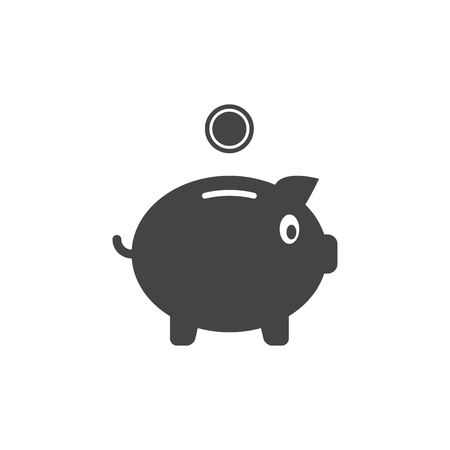 Piggy bank vector flat icon