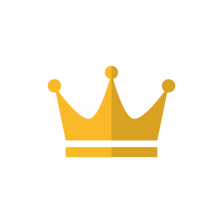 Gold crown flat vector icon 写真素材 - 119439376