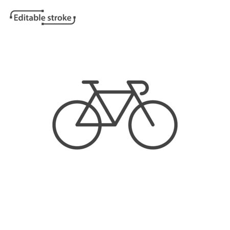 Bike vector icon. Editable stroke.