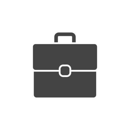 Business briefcase flat vector icon  イラスト・ベクター素材