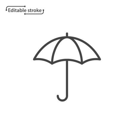 Umbrella line vector icon. Editable stroke.