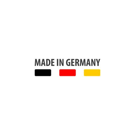 Made in Germany label with German flag colors