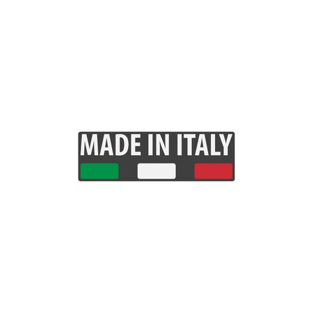 Made in Italy label with Italian flag colors