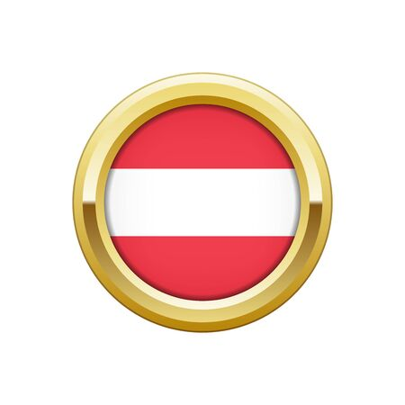 Gold badge with Austrian flag