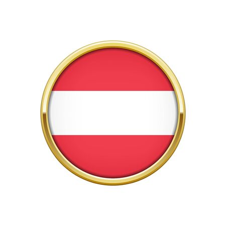 Gold badge with Austrian flag  イラスト・ベクター素材