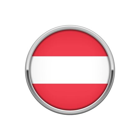 Silver badge with Austrian flag  イラスト・ベクター素材