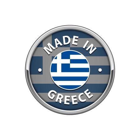 Made in Greece badge with Greek flag  イラスト・ベクター素材