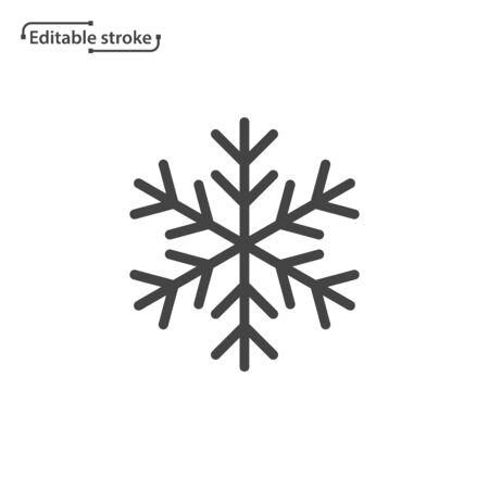 Snowflake line vector icon. Editable stroke. Ilustração