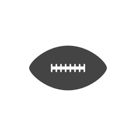 American football ball flat vector icon