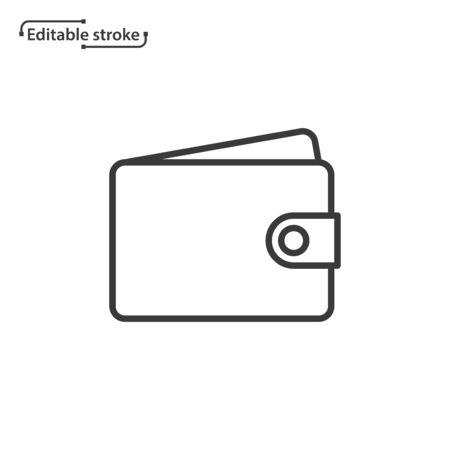 Wallet line vector icon. Editable stroke. Ilustração