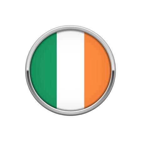 Flag of Ireland silver badge Ilustração