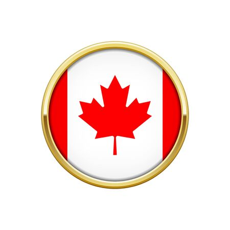 Flag of Canada gold badge