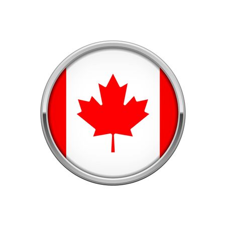 Flag of Canada silver badge