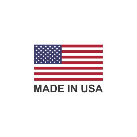 Made in USA label with The flag of the United States of America