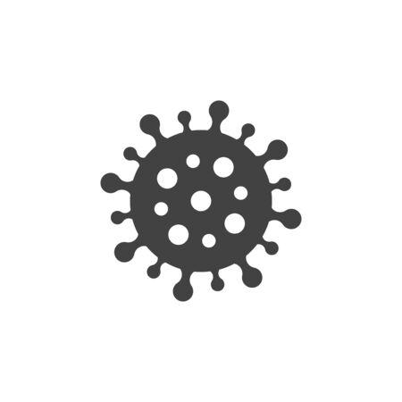 Virus vector icon. Respiratory infection. Covid-19 coronavirus disease.
