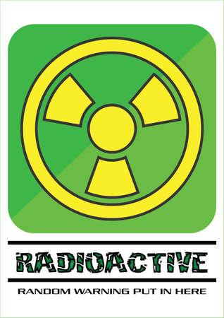Green and Yellow Radioactive Sign Stock Illustratie