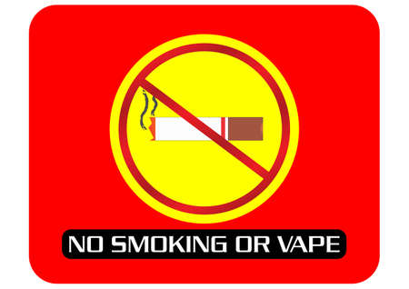 No Smoking Sign or Vape