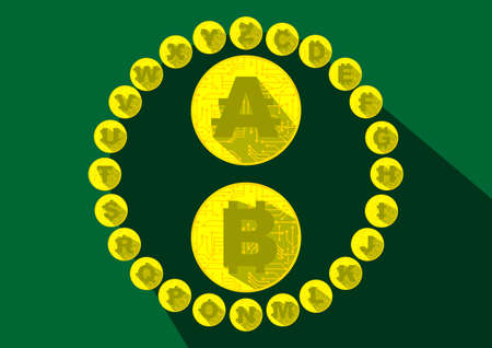 Alphabet Cryptocurrency Coins