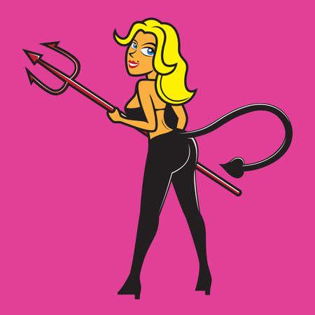 sinner: Sinner Girl vector illustration