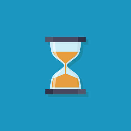 Hourglass icon, flat design vector illustration