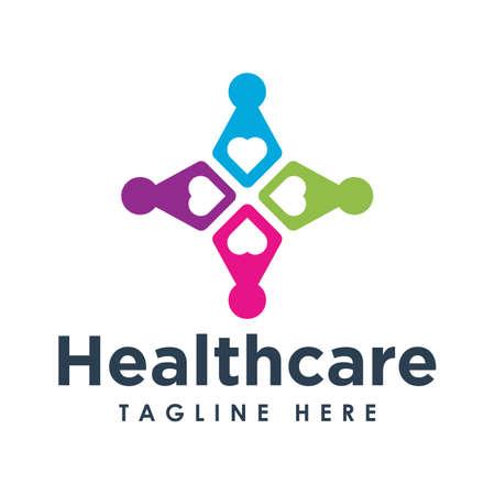 Gesundheitswesen und medizinische Logo-Design-Vektor-illustration Logo