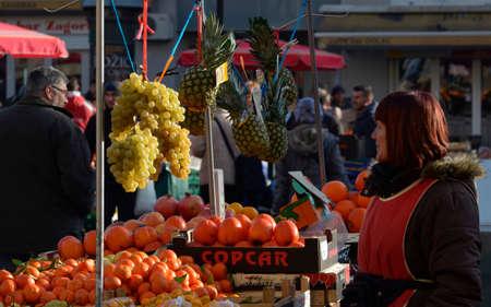 legendary: Zagreb,Croatia. 31 Dec 2015. New Years Eve at legendary Dolac market.