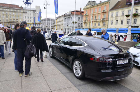 presented: Zagreb,Croatia. 16 May 2015. On the occasion of the Zagreb Energy Week at Zagrebs main square,organizers presented electric and environmentally friendly vehicles of domestic and foreign manufacturers. Citizens of Zagreb met with new technological solutio