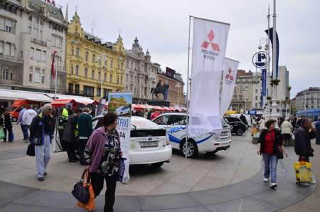manufacturers: Zagreb,Croatia. 16 May 2015. On the occasion of the Zagreb Energy Week at Zagrebs main square,organizers presented electric and environmentally friendly vehicles of domestic and foreign manufacturers. Citizens of Zagreb met with new technological solutio