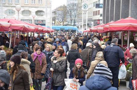 nov: Zagreb,Croatia. 28 Nov 2015. Preparations for Advent in the city. Editorial