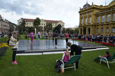 sep: Zagreb, Croatia. 26 Sep 2015. As part of the Rendez vous festival of France Nuit blanche in the city, held a concert and opera in front of the Croatian National Theatre.