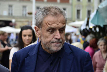 mayor: Zagreb, Croatia. 04th Sep, 2015. Mayor Milan Bandic opened the ZeGeVege Festival of Sustainable Living at Ban Josip Jelacic square.