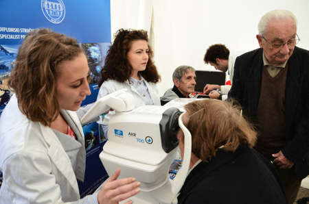 astigmatism: Zagreb, Croatia. 12th Apr, 2014. On the occasion of the 65th anniversary of the Institute of Public Health Dr. Andrija Stampar and Health Week, which began a solemn observance of World Health Day, organized public health event , which was held at Petar