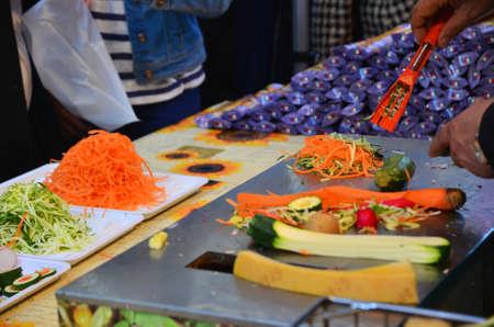 italia: Zagreb,Croatia. 11 Apr 2015. On the European square are set stands on the occasion of Italia fest, gastronomic event of Italian delicacies Editorial