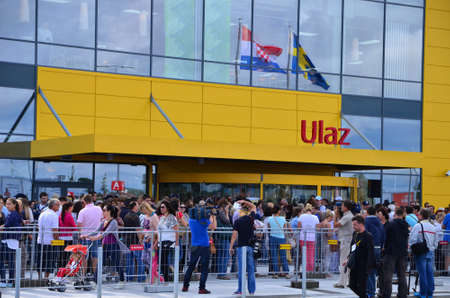 ikea: Zagreb, Croatia. 21st Aug, 2014. The grand opening of IKEA department store in Zagreb.