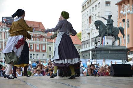 folklore: Zagreb, Croatia. 19th July, 2014. 48th International Folklore Festival at Ban Jelacic Editorial