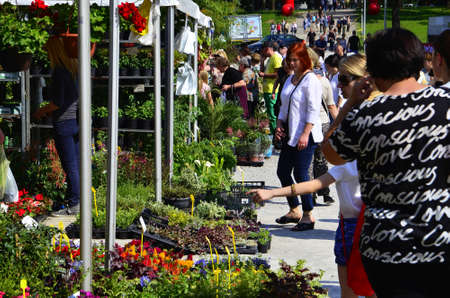 50th: Zagreb,Croatia. 30 May 2015. 50th Floraart - international garden show Floraart celebrating 50th birthday in the park Bundek.