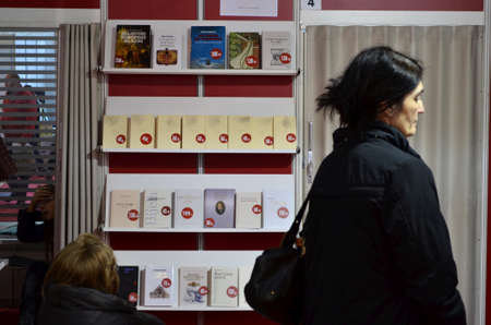 held: Zagreb, Croatia. 17th Nov, 2013. The last day of the International Book Fair, which is held at the Zagreb Fair attracted a large number of visitors and exhibitors Editorial