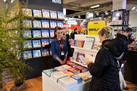 17th: Zagreb, Croatia. 17th Nov, 2013. The last day of the International Book Fair, which is held at the Zagreb Fair attracted a large number of visitors and exhibitors Editorial