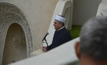 congregational: Zagreb,Croatia.19 Jun 2015. Friday congregational prayer Jumuah at Islamic center. Editorial