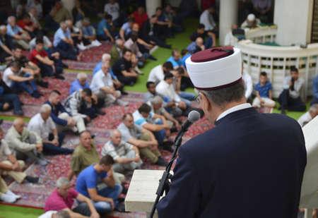 weekdays: Zagreb,Croatia.19 Jun 2015. Friday congregational prayer Jumuah at Islamic center. Editorial