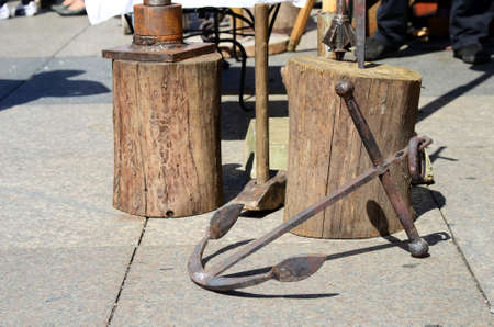 auspices: Zagreb, Croatia. 24th May, 2014. The 14th annual St. Marks Fair medieval crafts fair on Ban Jelacic Square where local craftsmen and craftsmen from the region presented their products and services under the auspices of the Tourist Board of Zagreb
